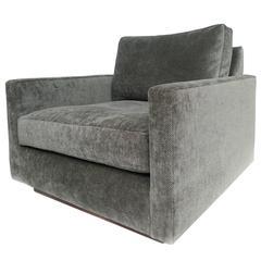 1970s Milo Baughman Gray Cube Chair