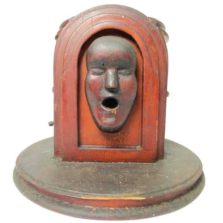 Folk Art Cigarette Dispenser