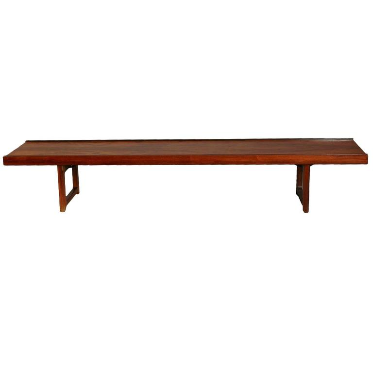 Minimalist Rosewood Bench 'Korbo' by Torbjørn Afdal for Mellemstrands / Bruksbo