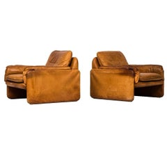 Easy Chairs in Cognac Brown Leather by De Sede in Switzerland