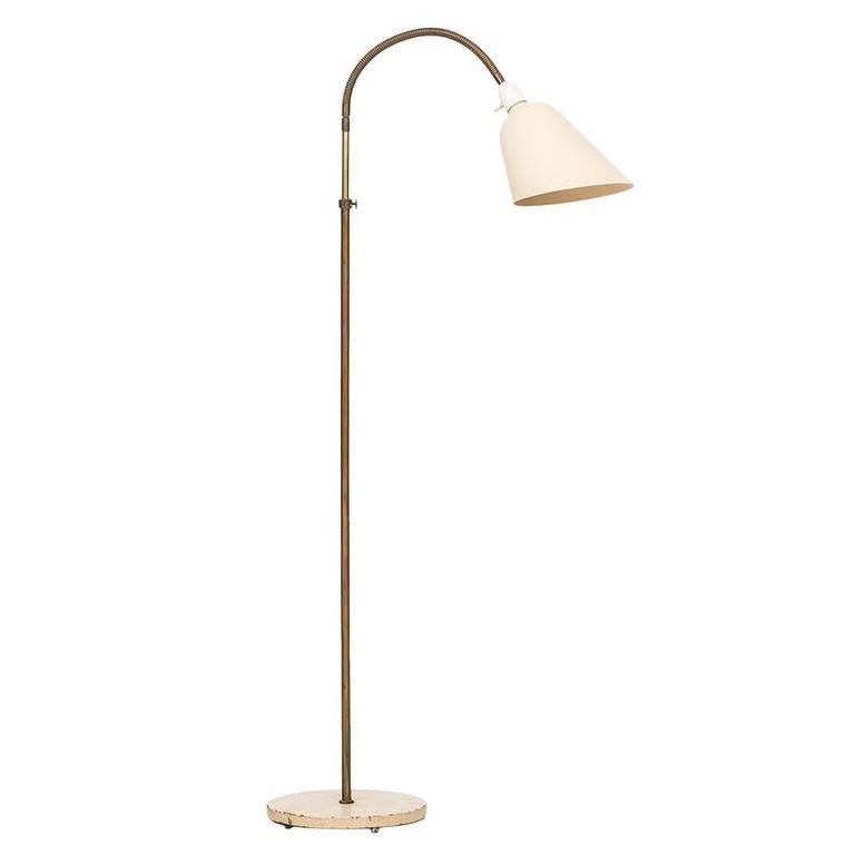 Arne Jacobsen Early Floor Lamp Produced by Louis Poulsen in Denmark