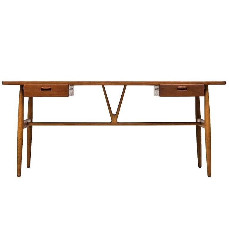 Hans Wegner Wishbone Model Jh 563 Desk By Johannes Hansen In Denmark For