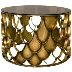 Japanese Carpus Coffee Table in Aged Brass