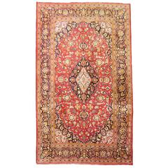 Kashan Silk Semi Antique Rug