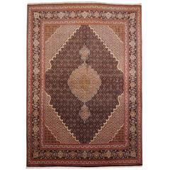 Persian Tabriz Wool and Silk Rug