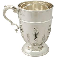 Antique George V Sterling Silver Pint Mug