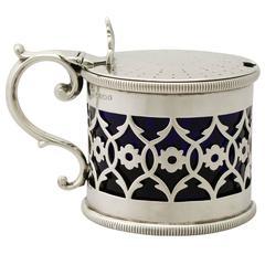 Antique Victorian Sterling Silver Mustard Pot