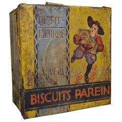 Vintage Tin Biscuit Box Parein Antwerp, Belgium