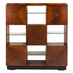 Geometric Cabinet Bookcase with Drop Down Desk by Johan Tapp for Gumps