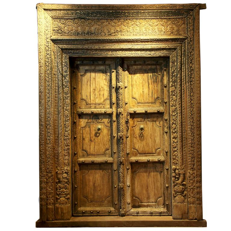 Set of Indian Doors with Surround 1