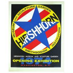 Graphic 1970s Signed Robert Indiana Hirshhorn Museum Opening Silkscreen, 1974