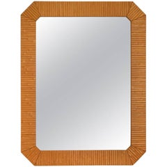 Postmodern Faux Bamboo Wall Mirror