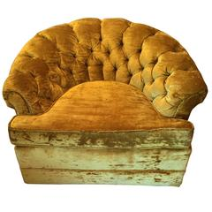 Hollywood Regency Crushed Velvet Club Chair