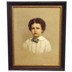 """Portrait of a Boy"" by Michele Gordigiani"