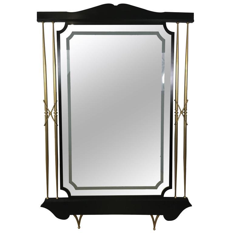 Massive Italian Modern Floor Mirror For Sale