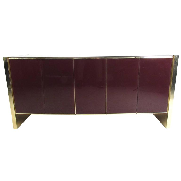 Mid-Century Modern Tinted Glass Front Server by Ello Furniture