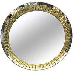 Crystal Art, Round Wall Mirror, circa 1970, Italy