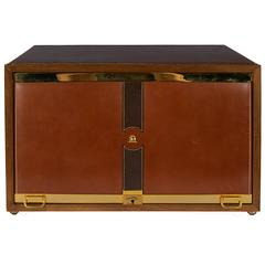 Mark Cross Men's Jewelry Box in Leather and Brass