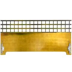King-Size Brass and Giltwood Headboard by Johnson Furniture Company