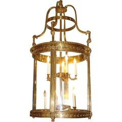 Large Gilt Bronze Lantern