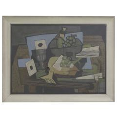 Cubist Still Life Serigraph by Georges Braque