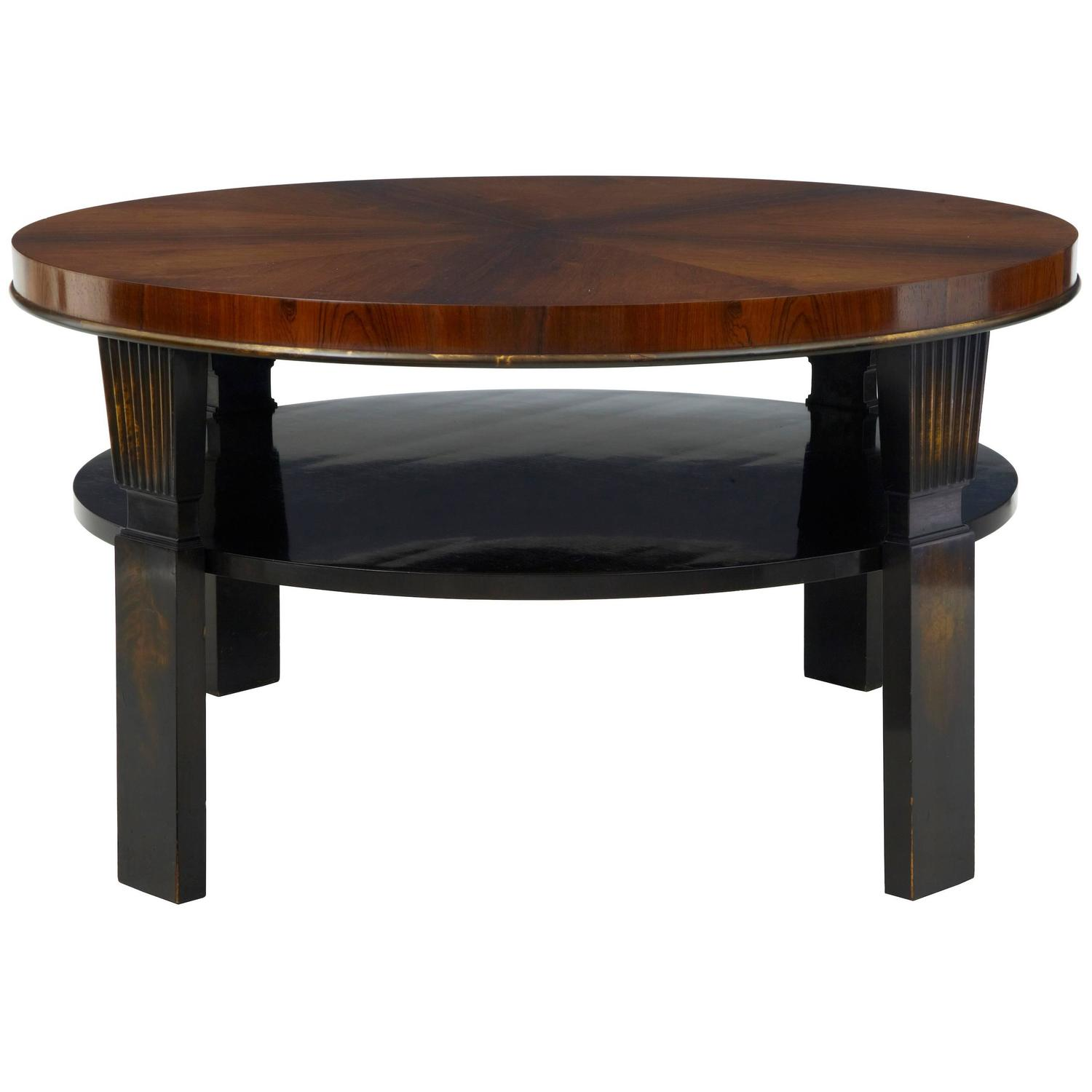 20th Century Art Deco Large Rosewood Birch Coffee Table For Sale At 1stdibs