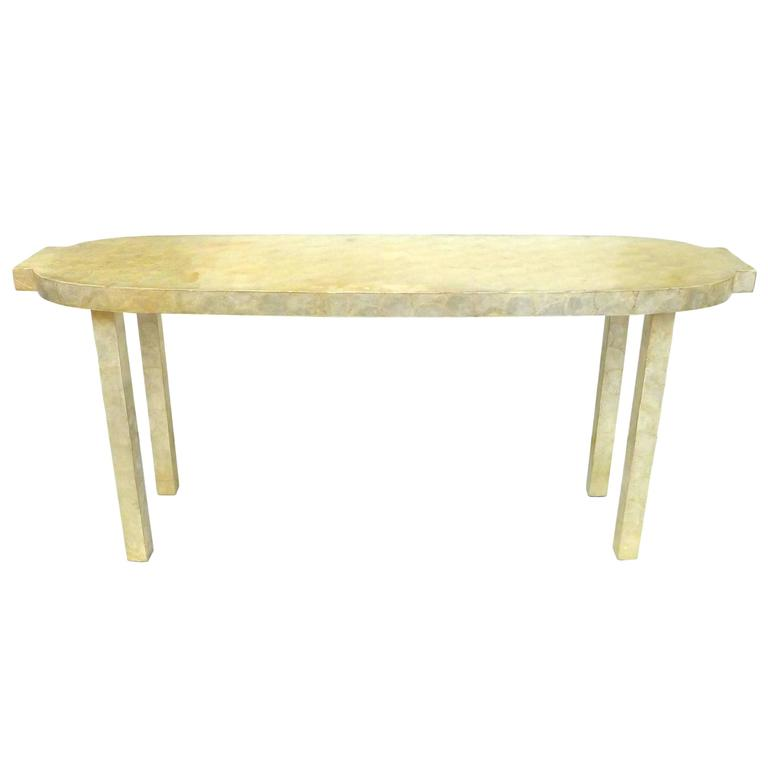 Capiz-Shell Clad Console Table