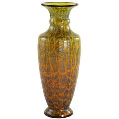 Early 20th Century Bohemian Art Deco Glass Vase by Loetz