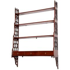 George III Chippendale Period Mahogany Wall Shelves