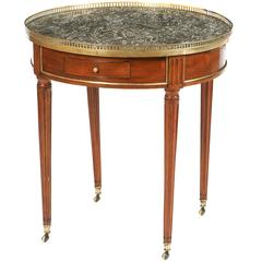 18th Century Louis XVI Mahogany Gueridon Round Table