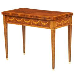 18th Century Neoclassical Russian Games Tables on Rosewood