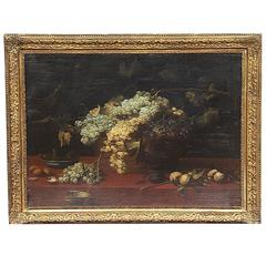 Still Life, Oil on Painting by Giovan Battista Ruoppolo, Naples, 17th Century