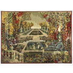 """Aubusson & Leleu, """"Jardin à la Française"""", monumental tapestry, France, 1957"""