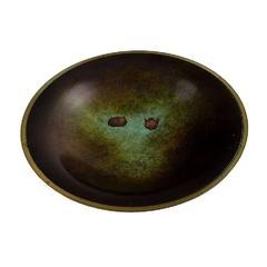 Just Andersen Light Bronze Bowl Dish, Denmark, 1930s-1940s