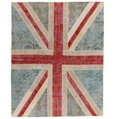 Union Jack, British Flag Design Vintage Patchwork Rug