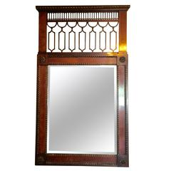 Stately French Empire Mahogany Mirror