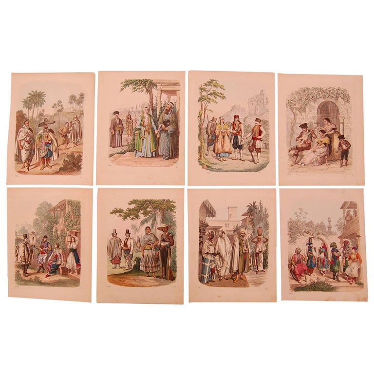 Set of Eight 19th Century Prints of Middle Eastern Interest For Sale