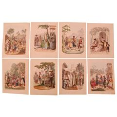 Set of Eight 19th Century Prints of Middle Eastern Interest
