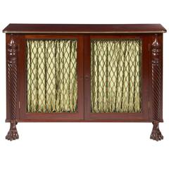 William IV Mahogany Brass Grill Cabinet