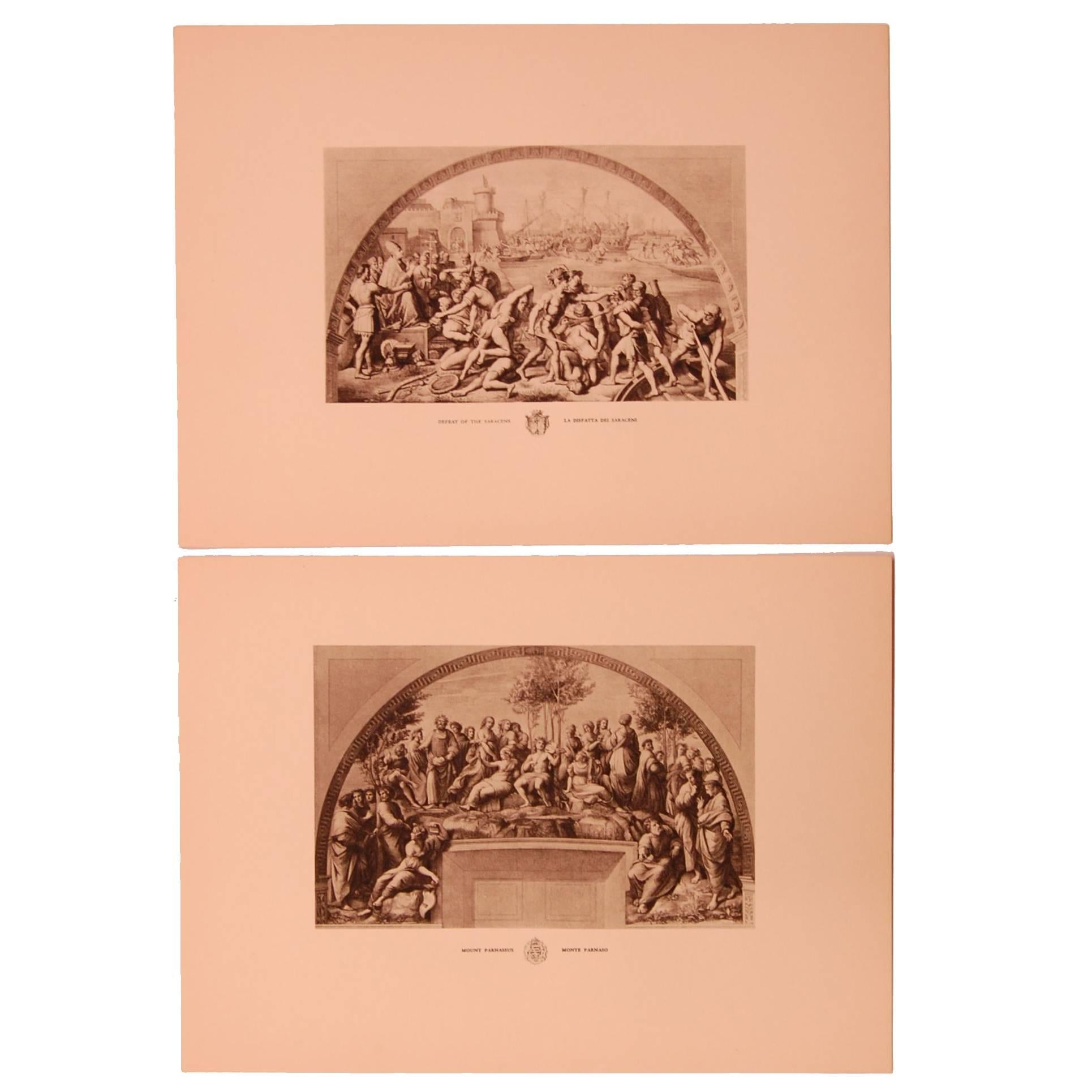 Set of Eight 20th Century Prints Depicting Ancient Roman Events