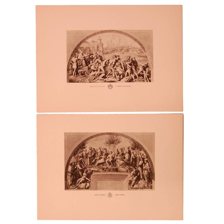 Set of Eight 20th Century Prints Depicting Ancient Roman Events For Sale