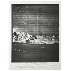 Lunar Surface Vintage Silver Gelatin Print by NASA