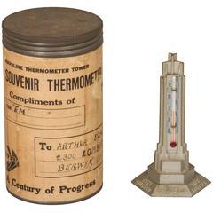 1933 Century of Progress Havoline Thermometer Tower