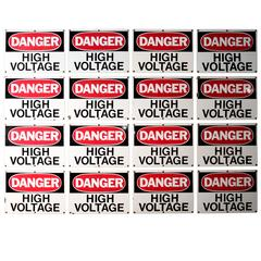 Vintage High Voltage Sign Collage