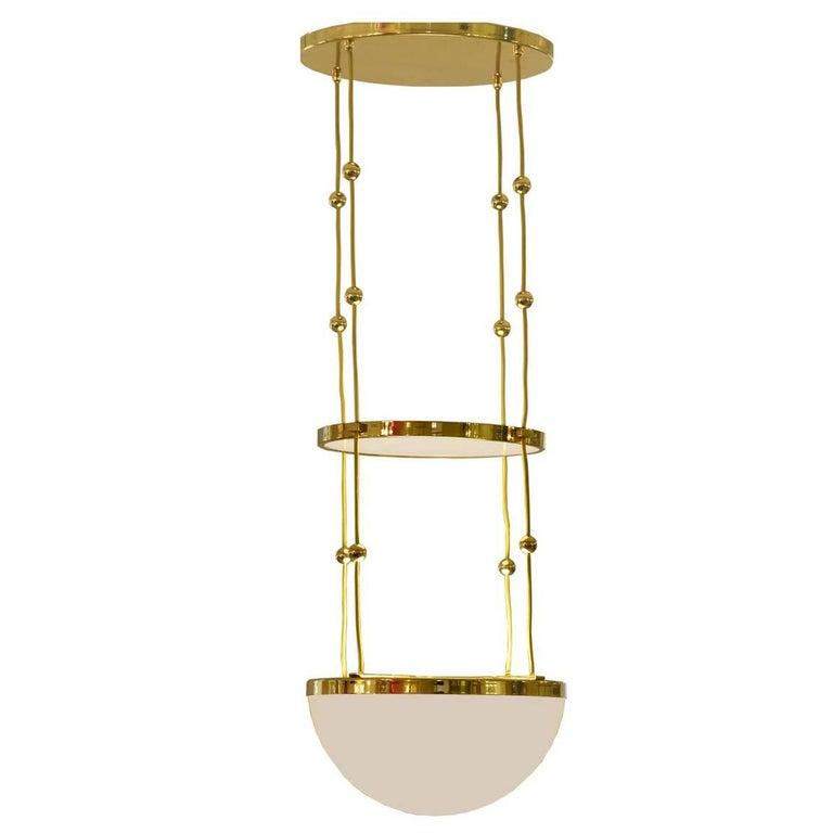 Adolf Loos Jugendstil Ceiling Lamp, Pendant Re-Edition For Sale