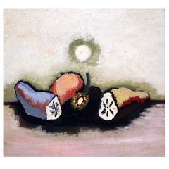 Jean Lurçat Painting, Trois Fruits Coupés, 1927