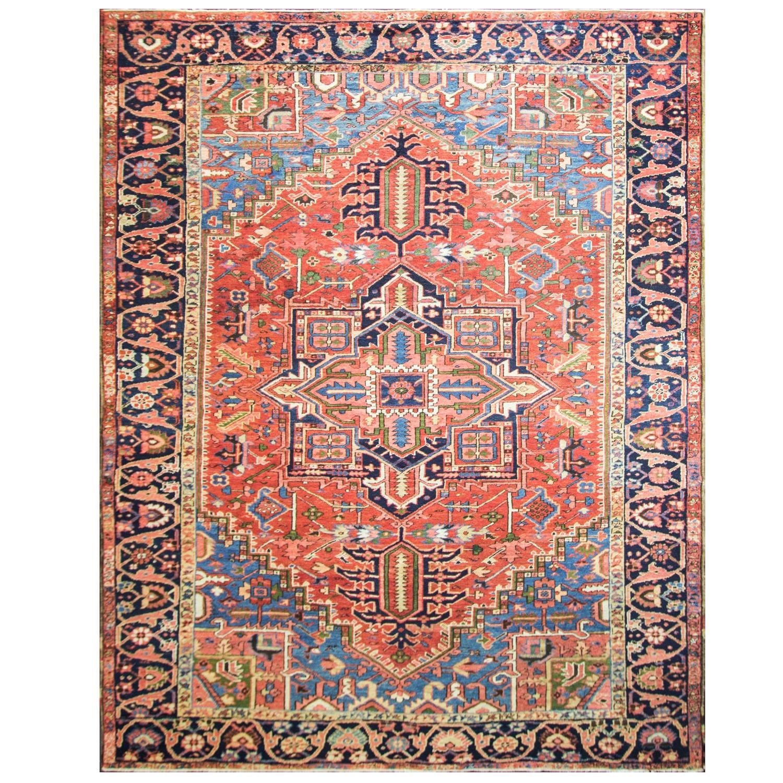 Charming Antique Persian Heriz Carpet At 1stdibs