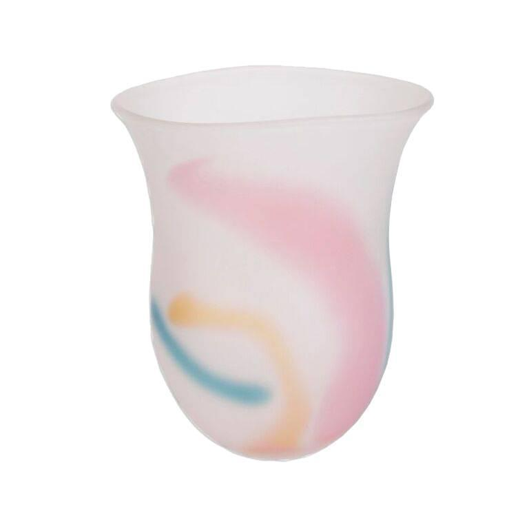 Kosta Boda Frosted Rainbow Art Glass Vase For Sale At 1stdibs