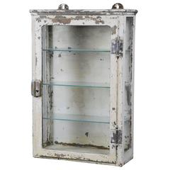 1920 Cast Iron Wall-Mounted Medical Cabinet