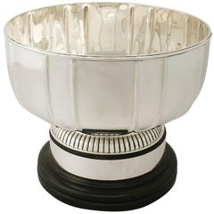 Antique Edwardian Sterling Silver Presentation Bowl Art Deco Style